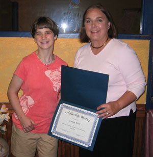 Denise Loveland accepts 2007 CARH scholarship